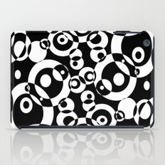 Chaos in black and white iPad Case