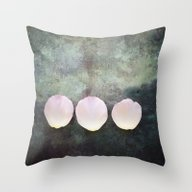 Three Rose Petals Throw Pillow