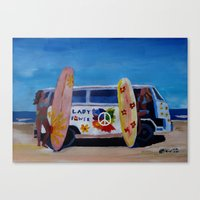 Surf Bus Series - The La… Canvas Print