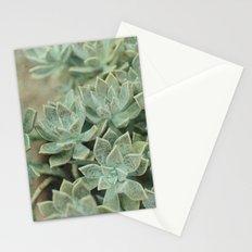 Botanical Graptopetalum Paraguayense in Jade and Antique Gold Stationery Cards