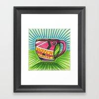 I Drew You A Hover Mug O… Framed Art Print