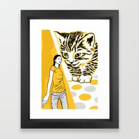Cat and Mouse Framed Art Print