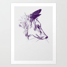 Mr Fox II Art Print