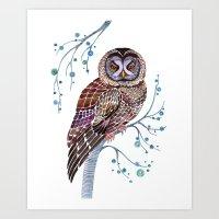 lacy owl Art Print