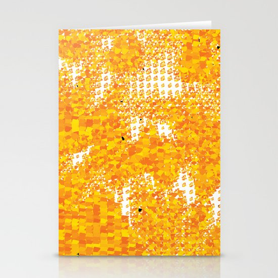 Golden Pebbles Stationery Card