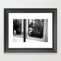 Little Girl In The Métr… Framed Art Print