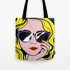 Pop Art Glamour Girl Tote Bag