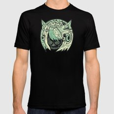 Bubble head - green Mens Fitted Tee Black SMALL