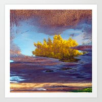 Spring In A Puddle! Art Print