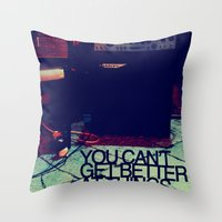Get better Throw Pillow