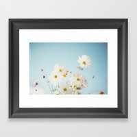 Garden Of Flowers. Framed Art Print