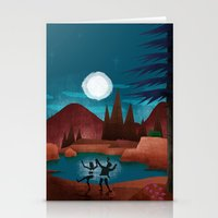 Moondance - Inspired by Wes Anderson's movie Moonrise Kingdom Stationery Cards