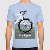 Giro d'Italia Bike Mens Fitted Tee Tri-Blue SMALL