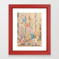 Monster forest Framed Art Print