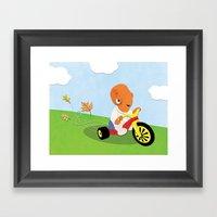SW Kids - Big Wheel Ackb… Framed Art Print