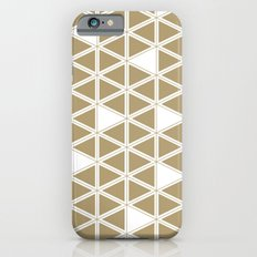 Tan Triangles Slim Case iPhone 6s