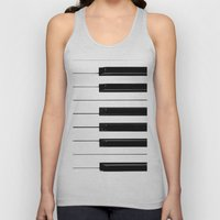Piano Keys Unisex Tank Top