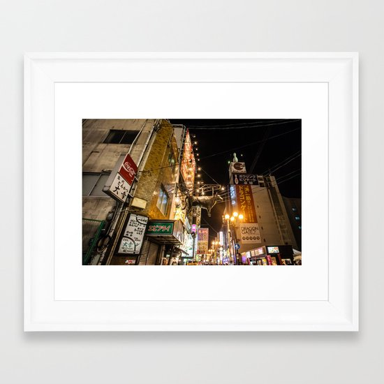 A Cow in Osaka Framed Art Print