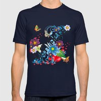 Gutmensch Mens Fitted Tee Navy SMALL