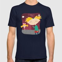 Arnold Mens Fitted Tee Navy SMALL