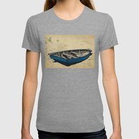 Beached Womens Fitted Tee Tri-Grey SMALL