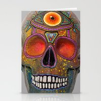 Upoko Skull Stationery Cards