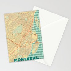 Montreal Map Retro Stationery Cards
