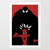 Spiderman (Amazing) vs Venom Art Print