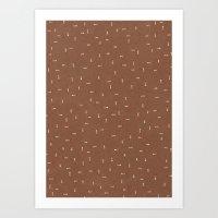 Canvas Dot Line Design Art Print
