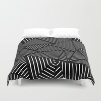 Ab Linear oom Black Duvet Cover