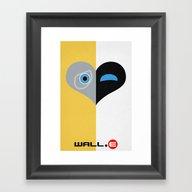 Wall-E Minimal Poster 01 Framed Art Print