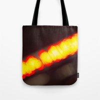 Orange Lights Tote Bag