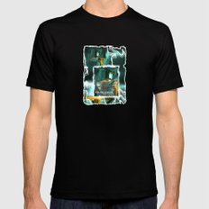 electric avenue SMALL Black Mens Fitted Tee