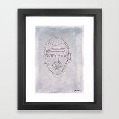 One line Doctor Who (Christopher Eccleston) Framed Art Print