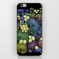 Crowded Aliens iPhone & iPod Skin