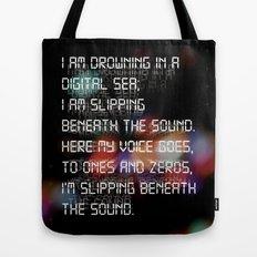 Drowning in the Digital Sea Tote Bag