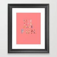 Live Life Framed Art Print