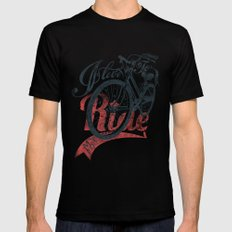 I love to ride Mens Fitted Tee Black SMALL