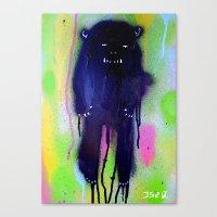 Night-bear Canvas Print
