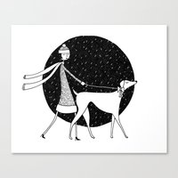 Walking In A Winter Wond… Canvas Print