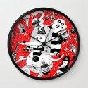 rot zeichentusche  Wall Clock
