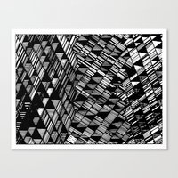 Moving Panes Black & Whi… Canvas Print