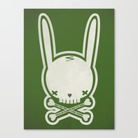 SKULL BUNNY of PIRATE - EP02 MOSS V. Canvas Print