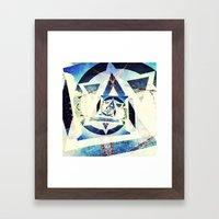 Endless triangles Framed Art Print