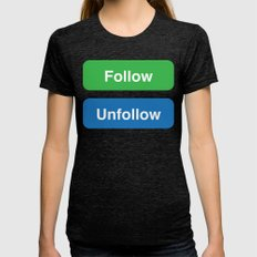 FOLLOW Womens Fitted Tee Tri-Black SMALL