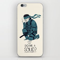 do me a solid. iPhone & iPod Skin