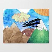 Paper plans Canvas Print