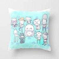 Gaticos Throw Pillow