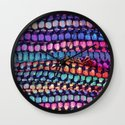 Colourful Layers  - JUSTART ©, edited photography Wall Clock