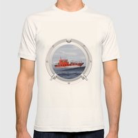 Port Hole View Mens Fitted Tee Natural SMALL